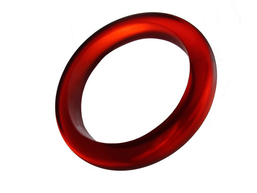 Red Resin Bangle - Big Bold Rich Color Translucent Bracelet