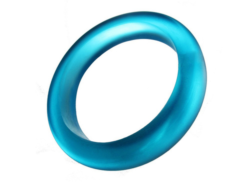 Bright Blue Resin Bangle - Ocean Inspired Opaque Bold Artisan Bracelet